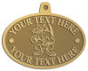 Ace Recognition Gold KeyTag, Medal, Pendant - with your text and logo - Sports, mascots, sports, animals, foxes, teams, high school, college, university