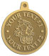 Ace Recognition Gold KeyTag, Medal, Pendant - with your text and logo - Aliens, ufos, robots
