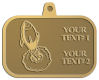 Ace Recognition Gold KeyTag, Medal, Pendant - with your text and logo - Aliens, rocket ships, rockets
