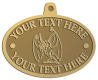 Ace Recognition Gold KeyTag, Medal, Pendant - with your text and logo - Sports, mascots, insects, flies, bees, wasps, high school, college, university