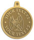 Ace Recognition Gold KeyTag, Medal, Pendant - with your text and logo - Sports, mascots, bats, high school, college, university