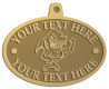 Ace Recognition Gold KeyTag, Medal, Pendant - with your text and logo - Sports, mascots, sharks, high school, college, university