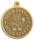 Ace Recognition Gold KeyTag, Medal, Pendant - with your text and logo - Sports, mascots, vikings, norsemen, high school, college, university