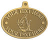 Ace Recognition Gold KeyTag, Medal, Pendant - with your text and logo - Sports, mascots, fish, sharks, high school, college, university