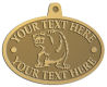 Ace Recognition Gold KeyTag, Medal, Pendant - with your text and logo - Sports, mascots, bears, grizzlies, high school, college, university