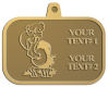 Ace Recognition Gold KeyTag, Medal, Pendant - with your text and logo - Sports, mascots, birds, buzzards, high school, college, university