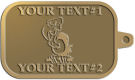 Ace Recognition Gold KeyTag - with your text and logo - Sports, mascots, birds, buzzards, high school, college, university