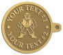 Ace Recognition Gold KeyTag - with your text and logo - Sports, mascots, martial arts, warriors, high school, college, university