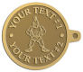 Ace Recognition Gold KeyTag - with your text and logo - Sports, mascots, soldiers, roman soldiers, high school, college, university