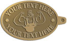Ace Recognition Gold KeyTag - with your text and logo - Men, man, bodybuilding, body-building, weightlifting