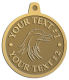 Ace Recognition Gold KeyTag, Medal, Pendant - with your text and logo - Tribal, tattoos, birds, eagles, hawks, ospreys, birds of prey, predators