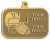 Ace Recognition Gold KeyTag, Medal, Pendant - with your text and logo - ping pong, paddles, table tennis,  exercise, fitness, fun, games, racket, racquet, raquet, recreation, serve, set, sport, sporting