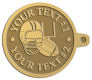 Ace Recognition Gold KeyTag - with your text and logo - ping pong, paddles, table tennis,  exercise, fitness, fun, games, racket, racquet, raquet, recreation, serve, set, sport, sporting