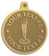 Ace Recognition Gold KeyTag, Medal, Pendant - with your text and logo - darts, archery, arrows, bullseye, fun, games, success, targets, triumph, win, leisure, luck, mark, success, target, triumph, win