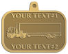 Ace Recognition Gold KeyTag, Medal, Pendant - with your text and logo - trucks, haulers, haul, delivery, cargo, carriers, transportation, transport trucks, transport, container trucks