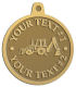 Ace Recognition Gold KeyTag, Medal, Pendant - with your text and logo - front loaders, excavators, back hoes, backhoes, loaders, trenchers, excavators, excavating, equipment, diggers