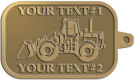 Ace Recognition Gold KeyTag - with your text and logo - bobcats, construction, industrial, machine, machinery