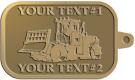 Ace Recognition Gold KeyTag - with your text and logo - bulldozers, machinery, equipment, heavy