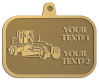 Ace Recognition Gold KeyTag, Medal, Pendant - with your text and logo - graders, machinery, road equipment, heavy equipment, highway maintenance