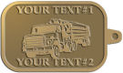 Ace Recognition Gold KeyTag - with your text and logo - logging equipment, logging truck, trucking, cargo, industry, logging, truck, lumber