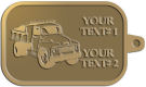 Ace Recognition Gold KeyTag - with your text and logo - dump truck, road construction, machinery, heavy equipment, transportation