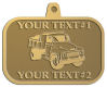 Ace Recognition Gold KeyTag, Medal, Pendant - with your text and logo - dump truck, road construction, machinery, heavy equipment, transportation