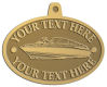 Ace Recognition Gold KeyTag, Medal, Pendant - with your text and logo - boats, recreation, speed boat, motorboat, motor boat, watercraft