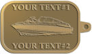 Ace Recognition Gold KeyTag - with your text and logo - boats, recreation, speed boat, motorboat, motor boat, watercraft