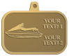 Ace Recognition Gold KeyTag, Medal, Pendant - with your text and logo - boats, watercraft, water craft, speed boats, pleasure boats, pleasure craft