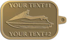 Ace Recognition Gold KeyTag - with your text and logo - boats, watercraft, water craft, speed boats, pleasure boats, pleasure craft
