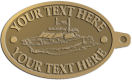 Ace Recognition Gold KeyTag - with your text and logo - boats, watercraft, water craft, motor yachts, pleasure boats, pleasure craft