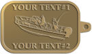 Ace Recognition Gold KeyTag - with your text and logo - boats, watercraft, water craft, fishing boats, fishing, pleasure boats, pleasure craft