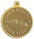 Ace Recognition Gold KeyTag, Medal, Pendant - with your text and logo - boats, watercraft, water craft, fishing boats, fishing, pleasure boats, pleasure craft