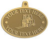 Ace Recognition Gold KeyTag, Medal, Pendant - with your text and logo - forklifts, fork lifts, reach trucks, lift trucks, hoist trucks, industrial vehicles