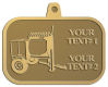 Ace Recognition Gold KeyTag, Medal, Pendant - with your text and logo - cement mixers, concrete mixers, masonry mixers, concrete, mortar