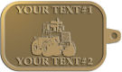 Ace Recognition Gold KeyTag - with your text and logo - cab enclosures, machines, industrial equipment, construction machinery, cabs