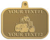 Ace Recognition Gold KeyTag, Medal, Pendant - with your text and logo - cab enclosures, machines, industrial equipment, construction machinery, cabs