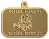 Ace Recognition Gold KeyTag, Medal, Pendant - with your text and logo - bucket front loaders, wheel loaders, machinery , loaders, excavators, bulldozers