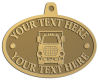 Ace Recognition Gold KeyTag, Medal, Pendant - with your text and logo - cube truck, delivery vans, panel trucks, trucks, transport trucks, delivery vehicles, transportation