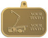 Ace Recognition Gold KeyTag, Medal, Pendant - with your text and logo - service trucks, crane trucks, aerial equipment, bucket trucks, utility equipment, bucket cranes, booms, telescopic booms
