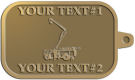 Ace Recognition Gold KeyTag - with your text and logo - service trucks, crane trucks, aerial equipment, bucket trucks, utility equipment, bucket cranes, booms, telescopic booms