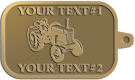 Ace Recognition Gold KeyTag - with your text and logo - tractors, farm equipment, farm machinery, farm machines, field implements, farm implements