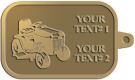 Ace Recognition Gold KeyTag - with your text and logo - lawn tractors, riding mowers, garden tractors, lawn mowers