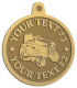 Ace Recognition Gold KeyTag, Medal, Pendant - with your text and logo - lawn tractors, riding mowers, garden tractors, lawn mowers