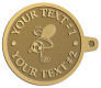 Ace Recognition Gold KeyTag - with your text and logo - .