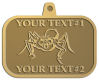 Ace Recognition Gold KeyTag, Medal, Pendant - with your text and logo - Sports, mascots, spiders, teams, high school, college, university
