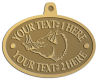 Ace Recognition Gold KeyTag, Medal, Pendant - with your text and logo - Sports, mascots, animals, pigs, teams, high school, college, university