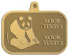 Ace Recognition Gold KeyTag, Medal, Pendant - with your text and logo - ailuropoda, panda bears, bears, animals, china, chinese, cubs, giant, nature, small, wild, wildlife, asia, asian, bamboo, china chinese, melanoleuca, oriental, , zoo, zoology