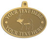 Ace Recognition Gold KeyTag, Medal, Pendant - with your text and logo - Hunting, caribou, animals, antlers, bucks, bulls, caribou, male, mammals, moose, wild, wilderness, wildlife, woods, elk, nature