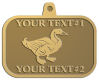 Ace Recognition Gold KeyTag, Medal, Pendant - with your text and logo - ducks, waterfowl, hunting